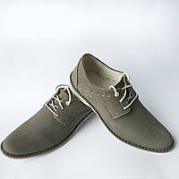 Мужская польская обувь в Украине : замшевые туфли , серого цвета