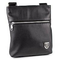 Мужская кожаная сумка-планшет Crez-301 (черный флотар), фото 1