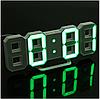 Часы настенные / настольные электронные белый+зеленый (Пластик, LED) + Адаптер сетевой, фото 6