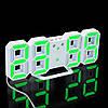 Часы настенные / настольные электронные белый+зеленый (Пластик, LED) + Адаптер сетевой, фото 8
