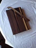 Кухонная разделочная доска классическая из ореха 35х25х3 см К35*25