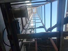 Сервисный подъёмник-лифт (кухонный, ресторанный). Монтаж снаружи здания. Приставной сервисный подъёмник.