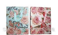 Подарочные пакеты Цветы 42х32х11 см