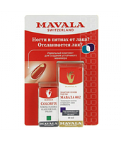 НАБОР MAVALA Защитная основа под лак Protective Base Coat 002 10ml + Фиксатор лака Colorfix 5ml