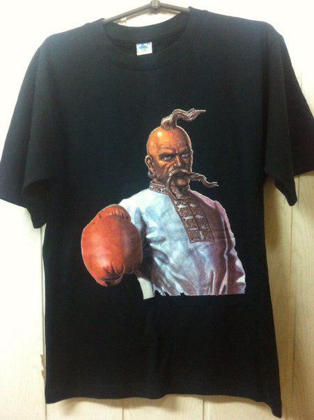 Футболка Козак боксер чорна