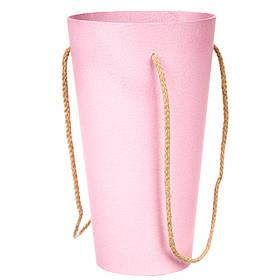 Коробка для цветов Конус с двумя ручками 0067J/pink