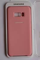 Чехол на Samsung S8 Plus Silicone cover Pink. Чехол накладка на Самсунг S8+ Розовый