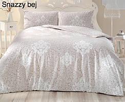 Постельное белье ранфорс Altinbasak (евро-размер) простынь на резинке № Snazzy Bej