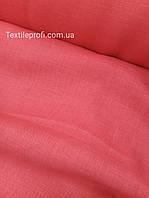 "Льняная костюмная ткань ""Карминно - розовый"""