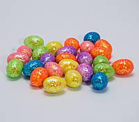 Яйца пасхальные с блестками 2,5 см, упаковка 50 шт