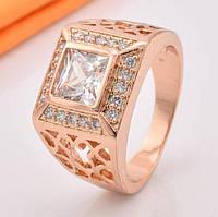 Мужское кольцо Xuping. Золото (покрытие) 750 пробы