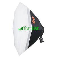 Постоянный флуоресцентный свет Falcon LHD-B928FS(OB8) + софтбокс октагон Ø80 см, 9х28w, 1260 Вт, 5500К
