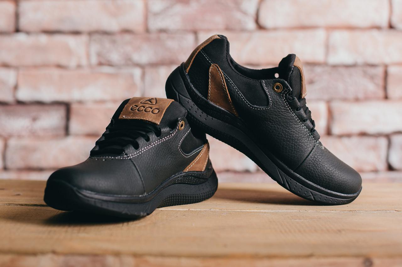 389b16910df2ab 36 , фото 5 Подростковые кожаные кроссовки Ecco Черные 10703 (R569) р.
