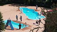 Композитный (стекловолоконный) бассейн Монте-Карло 13,00х5,50м глубиной 1,00-2,10м