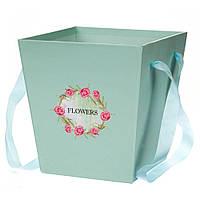 Коробка для цветов и фруктовых композицийFlowers 0065J/mint