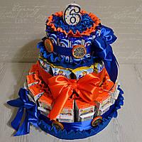 Торт из конфет и сока в детский сад