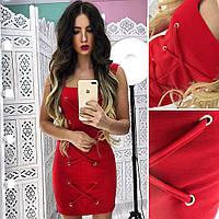 Красивое платье шнуровка АМЛ-1801.063(2)
