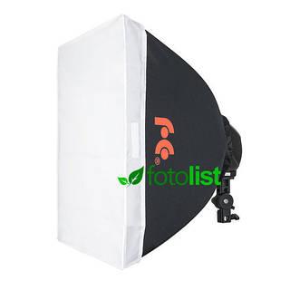 Постоянный диодный свет Falcon LED-B628FS + софтбокс 60х60 см, 6х12w, 840 Вт, 5500К