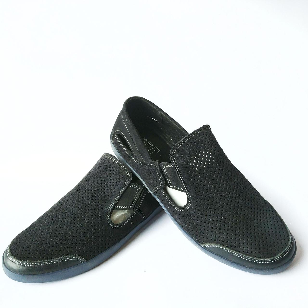 b8adf4d78 Летние мужские замшевые мокасины синего цвета без шнурков