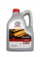 Оригинальное синтетическое моторное масло Toyota 5w40 5l