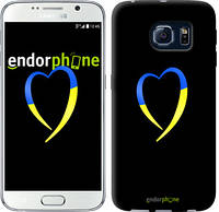 "Чехол на Samsung Galaxy S6 G920 Жёлто-голубое сердце ""885c-80-2448"""