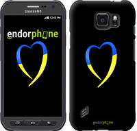 "Чехол на Samsung Galaxy S6 active G890 Жёлто-голубое сердце ""885u-331-2448"""