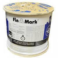 TV кабель FinMark F690BVcu, белый, медный, 305 м.