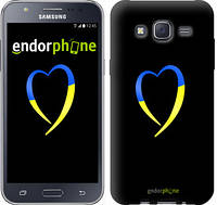 "Чехол на Samsung Galaxy J5 J500H Жёлто-голубое сердце ""885c-100-2448"""