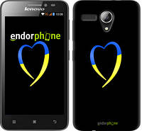 "Чехол на Lenovo A606 Жёлто-голубое сердце ""885u-231-2448"""
