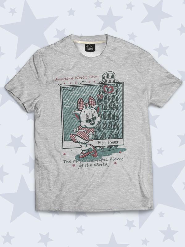 Детская футболка Pisa tower