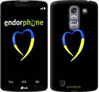 "Чехол на LG G Pro 2 D838 Жёлто-голубое сердце ""885u-375-2448"""