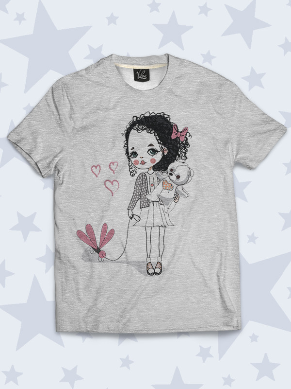 Детская футболка Girl with bear