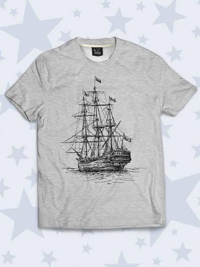 Детская футболка Корабль