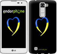 "Чехол на LG K8 K350E Жёлто-голубое сердце ""885c-297-2448"""
