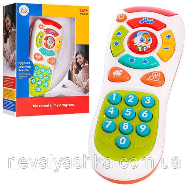Музыкальная развивающая игрушка муз. звук англ. цифры Умный Пульт Телефон Huile Toys, 3113, 007993