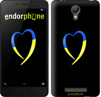 "Чехол на Xiaomi Redmi Note 2 Жёлто-голубое сердце ""885c-96-2448"""