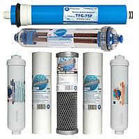Комплект картриджей для обратного осмоса Aquafilter с биокерамикой  и мембраной (Польша)