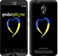 "Чехол на Asus Zenfone Go ZC500TG Жёлто-голубое сердце ""885c-160-2448"""