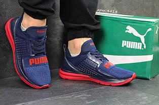 Кроссовки Puma Ignite Limitless синие с красным,плотная сетка 42р