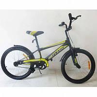 """Детский двухколесный велосипед TILLY FLASH 20"""" (T-22044) Black"""