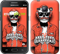 "Чехол на Samsung Galaxy J1 J100H Скелет в очках ""4192c-104-2448"""