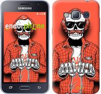 """Чехол на Samsung Galaxy J1 (2016) Duos J120H Скелет в очках """"4192c-262-2448"""""""