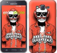 "Чехол на Samsung Galaxy J7 J700H Скелет в очках ""4192c-101-2448"""