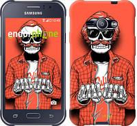 """Чехол на Samsung Galaxy J1 Ace J110H Скелет в очках """"4192c-215-2448"""""""