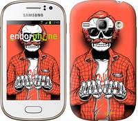 """Чехол на Samsung Galaxy Fame S6810 Скелет в очках """"4192u-254-2448"""""""