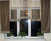 Панельные шторы Полоски шоколад, фото 1