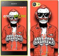"Чехол на Sony Xperia Z5 Compact E5823 Скелет в очках ""4192c-322-2448"""