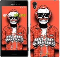 "Чехол на Sony Xperia Z3+ Dual E6533 Скелет в очках ""4192c-165-2448"""