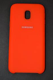 TPU + PC + MicroFiber Silicone Case for Samsung J330 / Galaxy J3 (2017 Acid Orange (кисло.-оранж.)