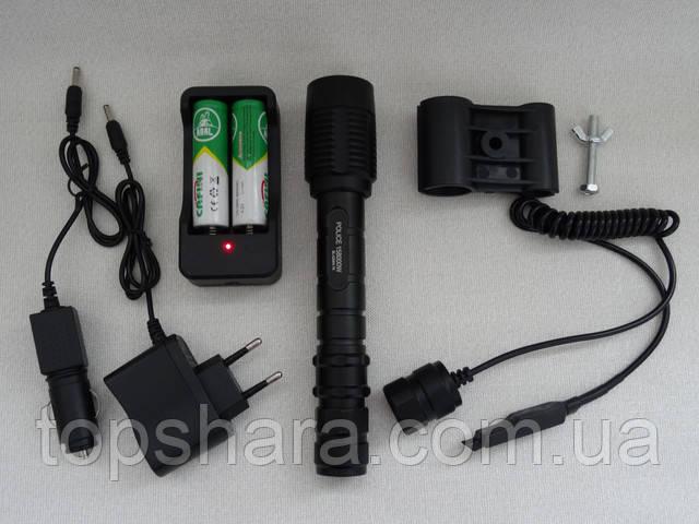 Фонарик ручной Bailong BL-Q2804 T6 POLICE, 158000W тактический фонарик